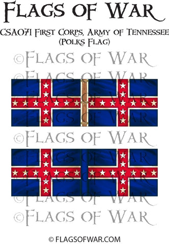 CSA071 First Corps - Army of Tennessee (Polks Flag)