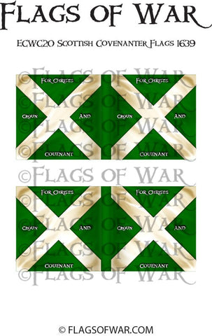 ECWC20 Scottish Covenanter Flags 1639 (Make your own)