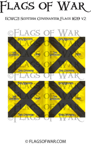 ECWC21 Scottish Covenanter Flags 1639 v2 (Make your own)