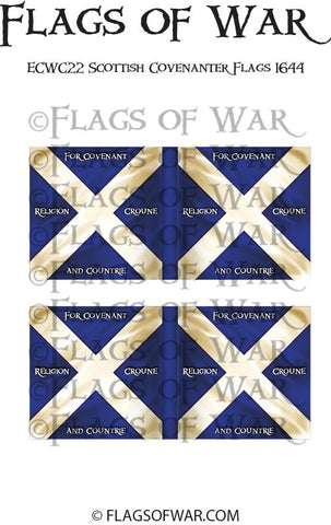 ECWC22 Scottish Covenanter Flags 1644 (Make your own)
