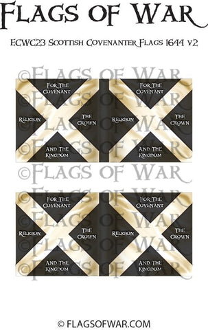 ECWC23 Scottish Covenanter Flags 1644 v2 (Make your own)