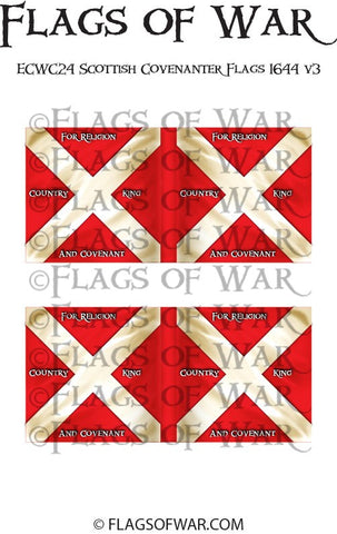 ECWC24 Scottish Covenanter Flags 1644 v3 (Make your own)