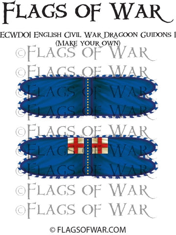 ECWD01 English Civil War Dragoon Guidons 1 (Make your own)