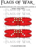 ECWD04 English Civil War Dragoon Guidons 4 (Make your own)