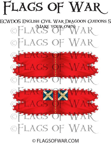 ECWD05 English Civil War Dragoon Guidons 5 (Make your own)