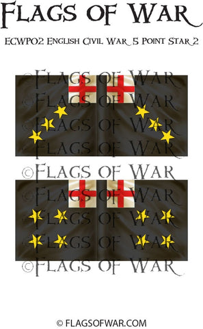 ECWG02 English Civil War 5 Point Star 2 (Make your own)