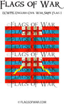 ECWG15 English Civil War Sripe Flag 1 (Make your own)