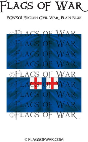 ECWS01 English Civil War Plain Blue