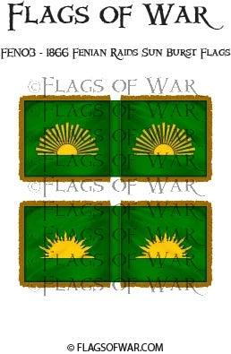FEN03 - 1866 Fenian Raids Sun Burst Flags