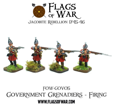 FOW-GOV05 Government Grenadiers - Firing
