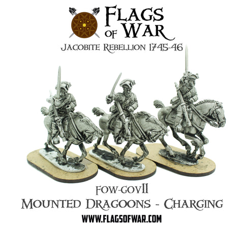 FOW-GOV11 Mounted Dragoons - Charging