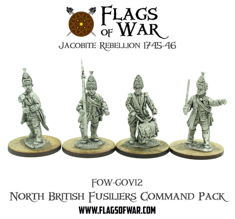 FOW-GOV12 North British Fusiliers Command Pack  (Pre-Order)