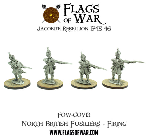 FOW-GOV13 North British Fusiliers - Firing  (Pre-Order)
