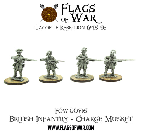 FOW-GOV16 British Infantry - Charge Musket  (Pre-Order)