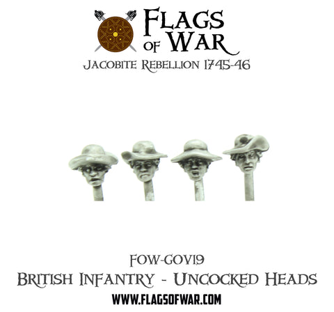FOW-GOV19 British Infantry - Uncocked Heads  (Pre-Order)