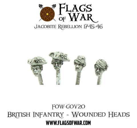 FOW-GOV20 British Infantry - Wounded Heads  (Pre-Order)