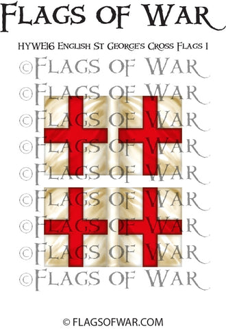 HYWE16 English St George's Cross Flags 1