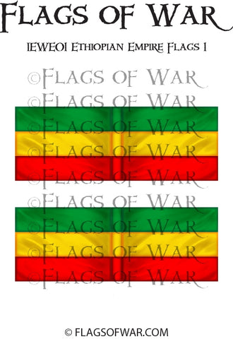 IEWE01 Ethiopian Empire Flags 1