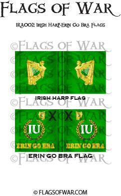 IRA002 Irish Harp-Erin Go Bra Flags