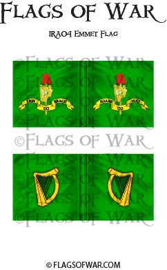 IRA04 Emmet Flag and Irish Harp