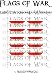 LAN02 Two Colour Lance Pennants