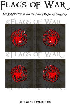 MFAN-S16 Medieval Fantasy Dragon Banners