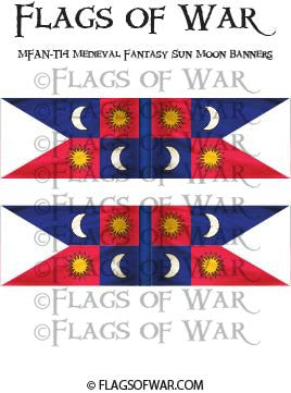 MFAN-T14 Medieval Fantasy Sun Moon Banners