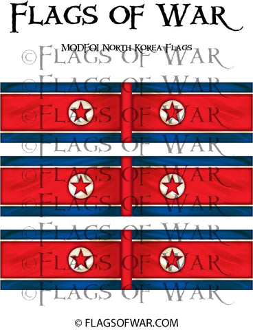 MODF01 North Korea Flags