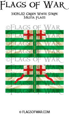 MONJ12 Green White Stripe Militia Flags