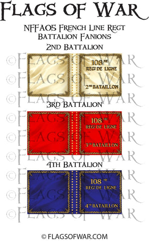 NFFA05 French Line Regt Battalion Fanions (Make your own)