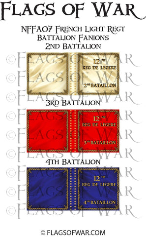 NFFA07 French Light Regt Battalion Fanions (Make your own)