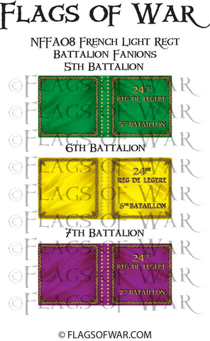 NFFA08 French Light Regt Battalion Fanions (Make your own)