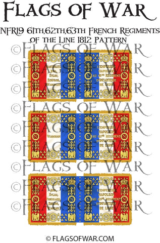NFR19 61th,62th,63th French Regiments Line 1812 Pattern