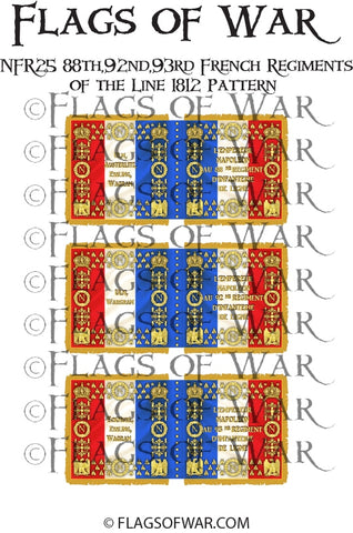 NFR25 88th,92nd,93rd French Regiments Line 1812 Pattern