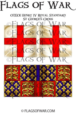 OTE01 Henry IV Royal Standard-St George's Cross