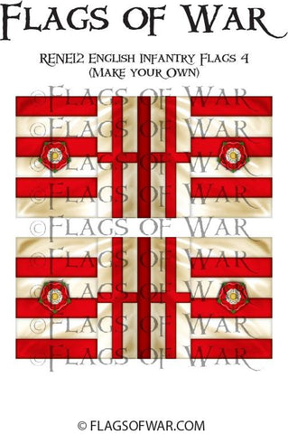 RENE12 English Infantry Flags 4 (Make your Own)