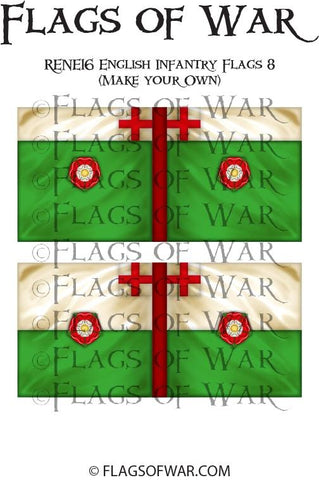 RENE16 English Infantry Flags 8 (Make your Own)