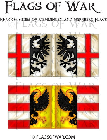RENG04 Cities of Memmingen and Nürnberg Flags