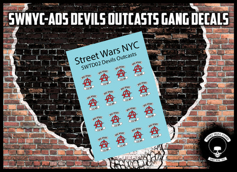 SWNYC-A05 Devils Outcasts Gang Decals