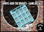 SWNYC-A08 The Braves - Gang Decals