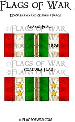 TEX01 Alamo and Coahuila Flags