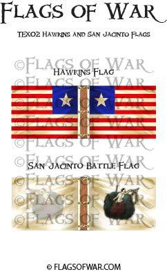 TEX02 Hawkins and San Jacinto Flags
