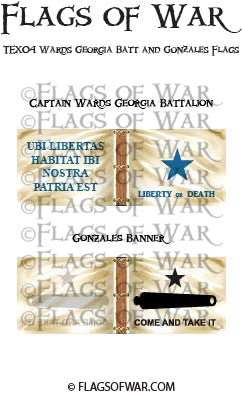 TEX04 Wards Georgia Batt and Gonzales Flags