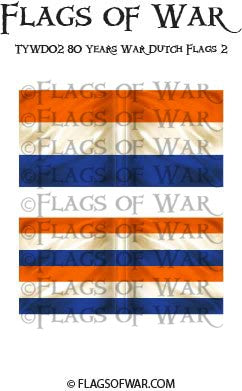 TYWD02 80 Years War Dutch Flags 2