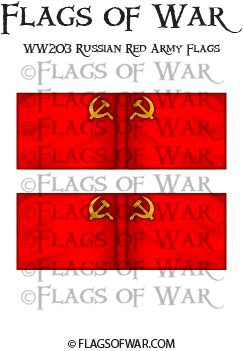 WW203 Russian Red Army Flags