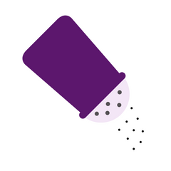 Drawing of a purple black pepper shaker