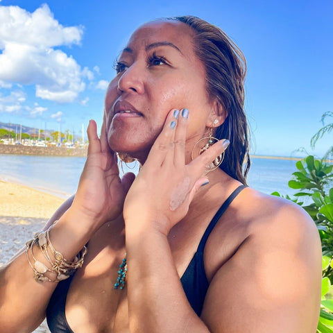 Coral glow best face oil for surfers