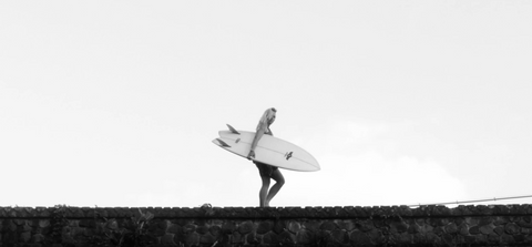 Surfer Girl Greyscale