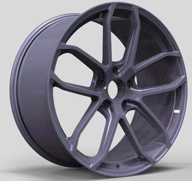 PC 221 - Aftermarket Forged Custom Made Wheels Set Type Porsche Cayenne with Graphite Coating