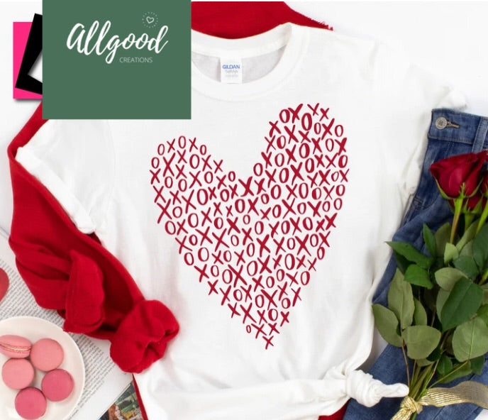 Hugs and Kisses Heart T-Shirt